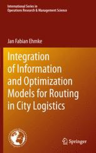 Integration of Information and Optimization Models for Routing in City Logistics