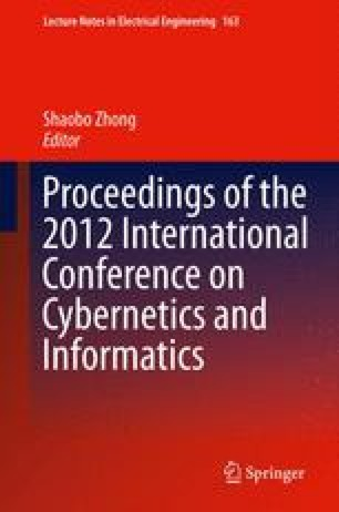 Proceedings of the 2012 International Conference on Cybernetics and Informatics
