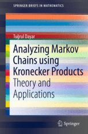 Analyzing Markov Chains using Kronecker Products