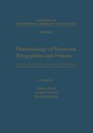 Pharmacology of Hormonal Polypeptides and Proteins
