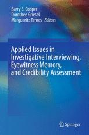 Applied Issues in Investigative Interviewing, Eyewitness Memory, and Credibility Assessment