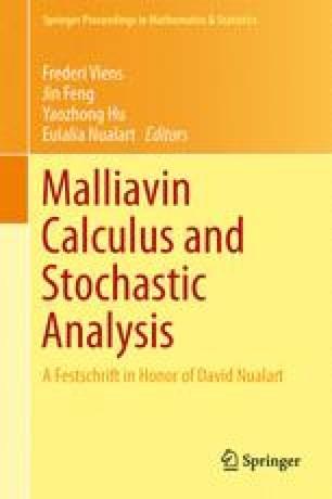Malliavin Calculus and Stochastic Analysis