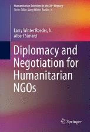 Diplomacy and Negotiation for Humanitarian NGOs