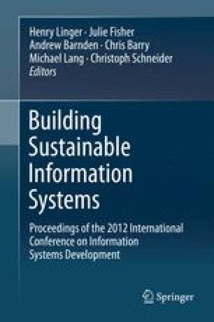 Building Sustainable Information Systems