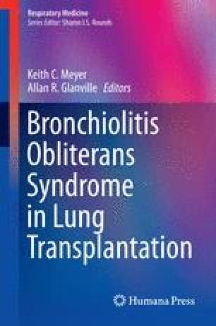 Bronchiolitis Obliterans Syndrome in Lung Transplantation
