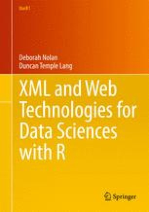 XML and Web Technologies for Data Sciences with R