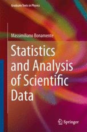 Statistics and Analysis of Scientific Data