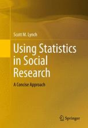 Using Statistics in Social Research