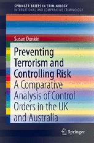 Preventing Terrorism and Controlling Risk