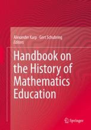 Handbook on the History of Mathematics Education