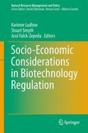 Socio-Economic Considerations in Biotechnology Regulation