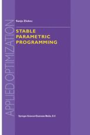 Stable Parametric Programming