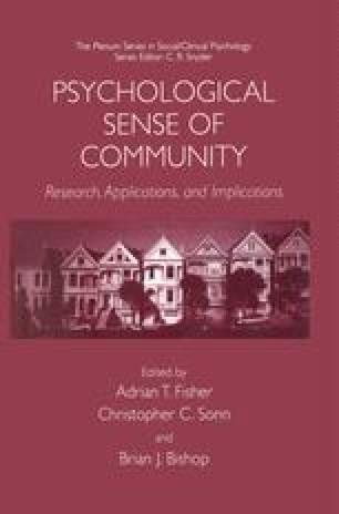 Psychological Sense of Community