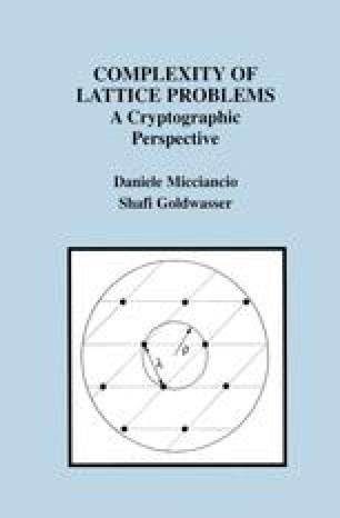 Complexity of Lattice Problems