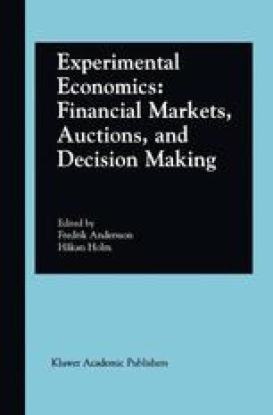 Experimental Economics: Financial Markets, Auctions, and Decision Making