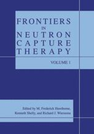 Frontiers in Neutron Capture Therapy