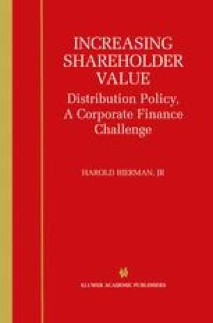 Increasing Shareholder Value