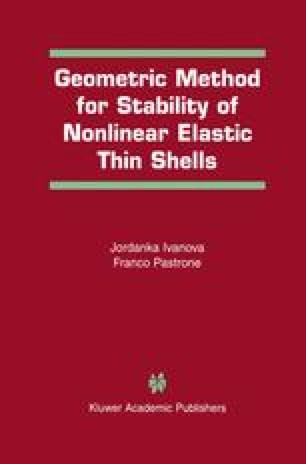 Geometric Method for Stability of Non-Linear Elastic Thin Shells