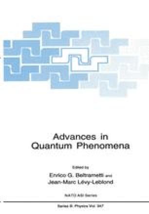 Advances in Quantum Phenomena