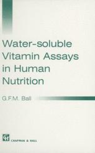 Water-soluble Vitamin Assays in Human Nutrition