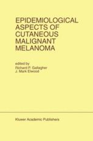 Epidemiological Aspects of Cutaneous Malignant Melanoma