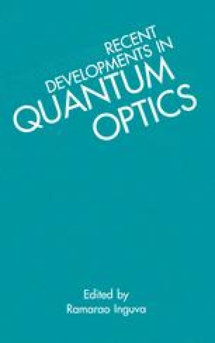 Recent Developments in Quantum Optics