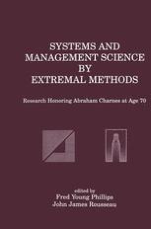 Systems and Management Science by Extremal Methods