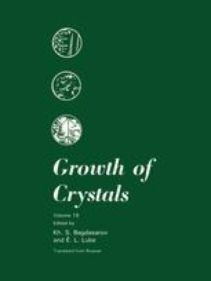 Growth of Crystals