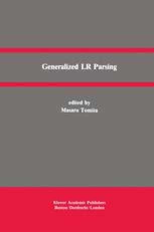Generalized LR Parsing