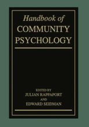 Handbook of Community Psychology