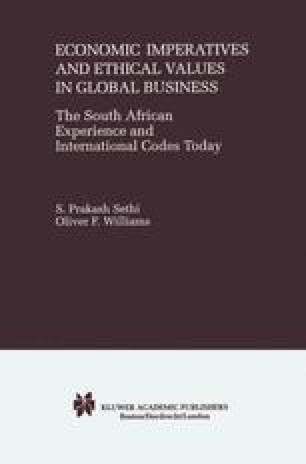 Economic Imperatives and Ethical Values in Global Business
