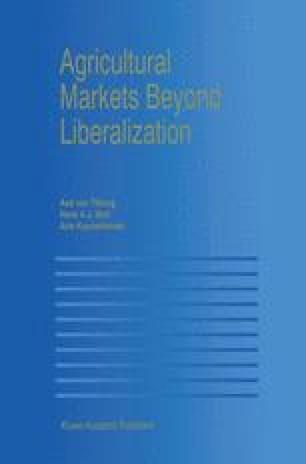 Agricultural Markets Beyond Liberalization