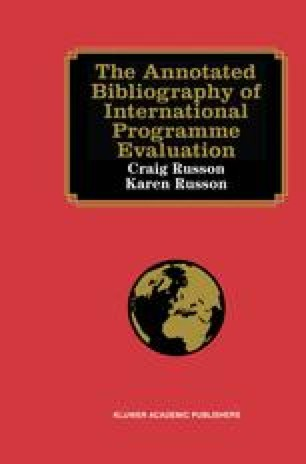 The Annotated Bibliography of International Programme Evaluation