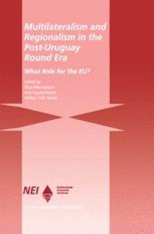 Multilateralism and Regionalism in the Post-Uruguay Round Era