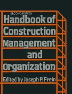 Handbook of Construction Management and Organization