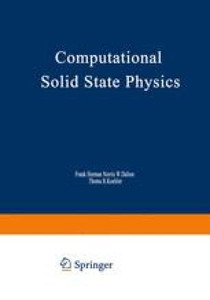 Computational Solid State Physics