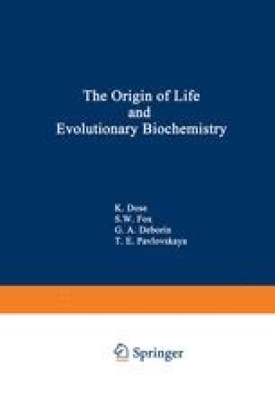 The Origin of Life and Evolutionary Biochemistry