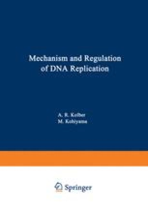 Mechanism and Regulation of DNA Replication