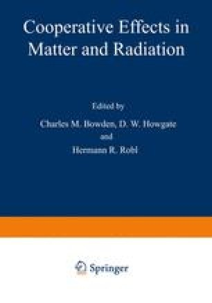 Cooperative Effects in Matter and Radiation