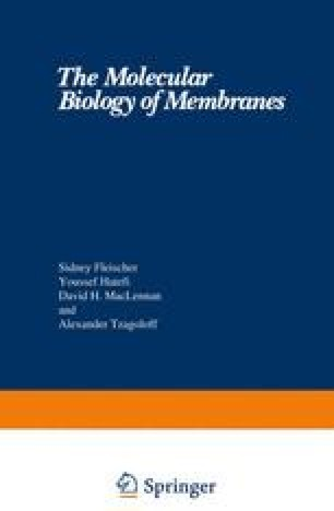 The Molecular Biology of Membranes