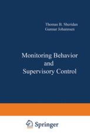 Monitoring Behavior and Supervisory Control