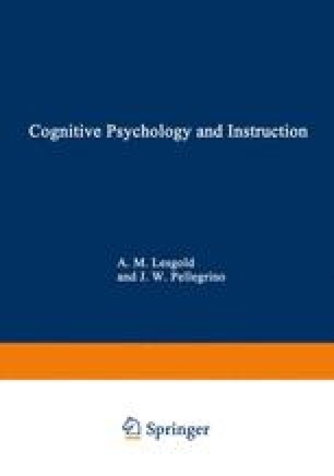 Cognition And Instruction Toward A Cognitive Theory Of Learning