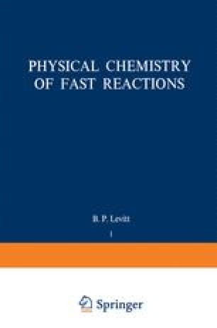Physical Chemistry of Fast Reactions