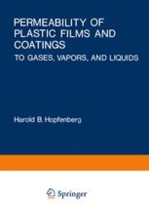 Permeability of Plastic Films and Coatings