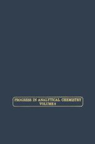 Progress in Analytical Chemistry