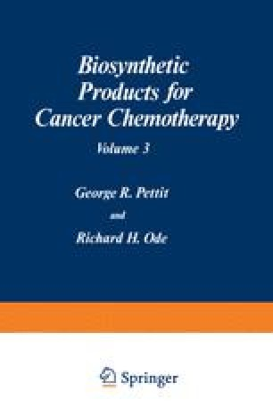 Biosynthetic Products for Cancer Chemotherapy