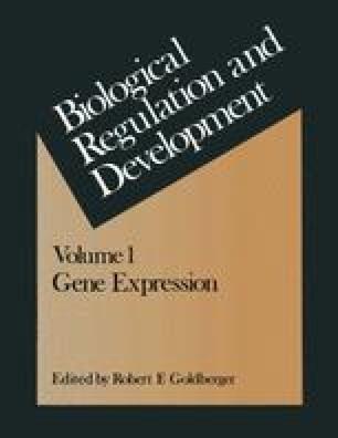 Biological Regulation and Development