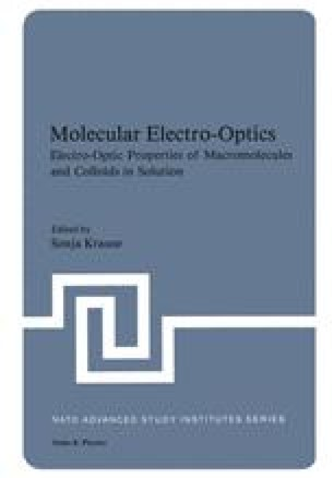 Molecular Electro-Optics