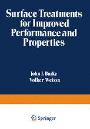 Surface Treatments for Improved Performance and Properties