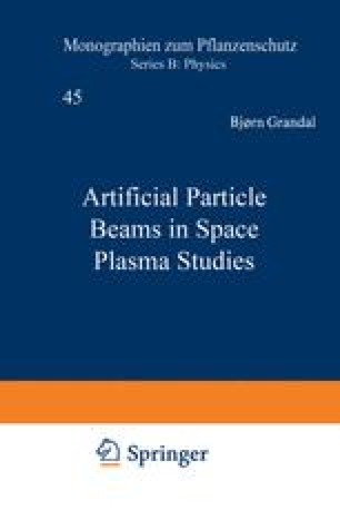 Artificial Particle Beams in Space Plasma Studies